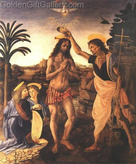 تابلوی نقاشی تعمید مسیح