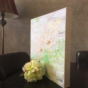 تابلو گل های طلایی