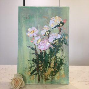 تابلوی گل های بنفش