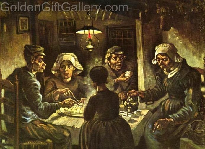 سیبزمینیخورها، رنگ روغن، ۱۸۸۵